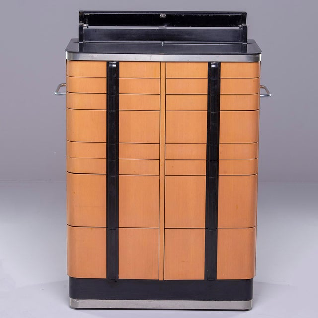 Black Art Deco Era Medical Cabinet in Maple and Black For Sale - Image 8 of 13