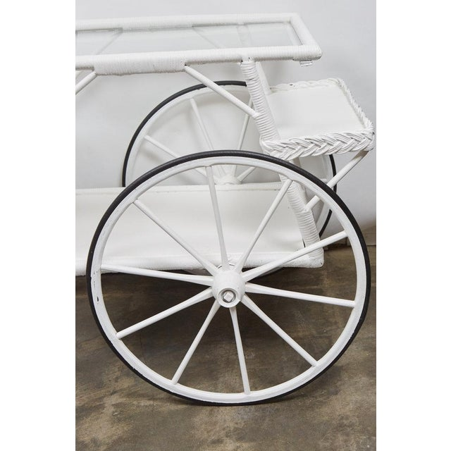 Wicker Drinks Cart For Sale - Image 4 of 5