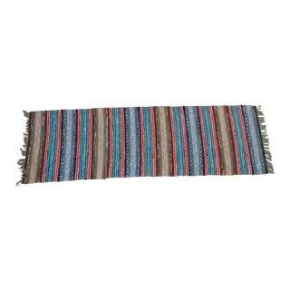 "Swedish Vintage Handwoven Rag Rug -- 2"" x 6""7'"