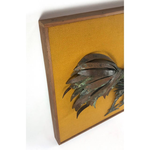 20th Century Country Mounted Metal Rooster Wall Sculpture | Chairish