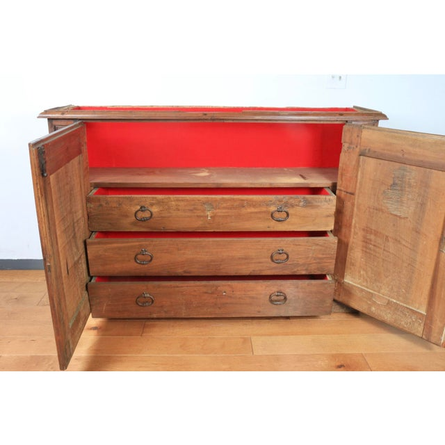 Late 1800's Rustic 2 Piece Italian Cabinet For Sale - Image 10 of 13