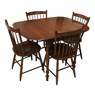 Vintage L. Hitchcock Table and Chairs For Sale