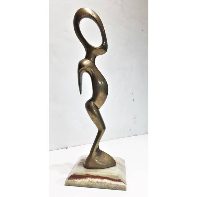 Mid-Century Modern American Mid-Century Modern, an Alien, Polished Bronze Sculpture, Circa 1960s For Sale - Image 3 of 5