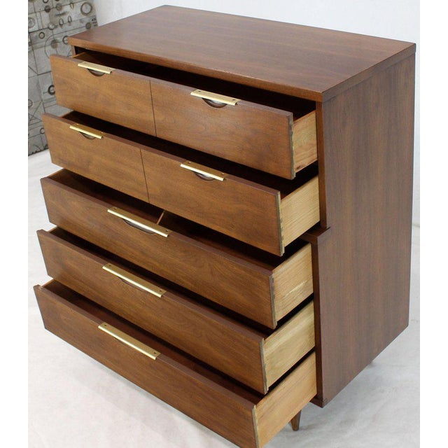 Mid-Century Modern five drawers super clean high chest dresser by Kent Coffey.