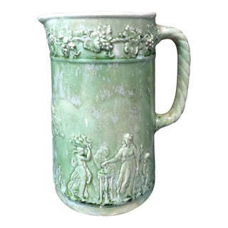 Faience Dripped Ceramic Pitcher For Sale