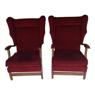 Vintage Modern Red Wing Chairs- A Pair For Sale