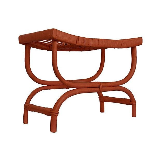 Coral Rattan Stool - Image 1 of 5