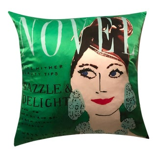 Designer Decorative Kate Spade Emerald Green Breakfast at Tiffany Pillow