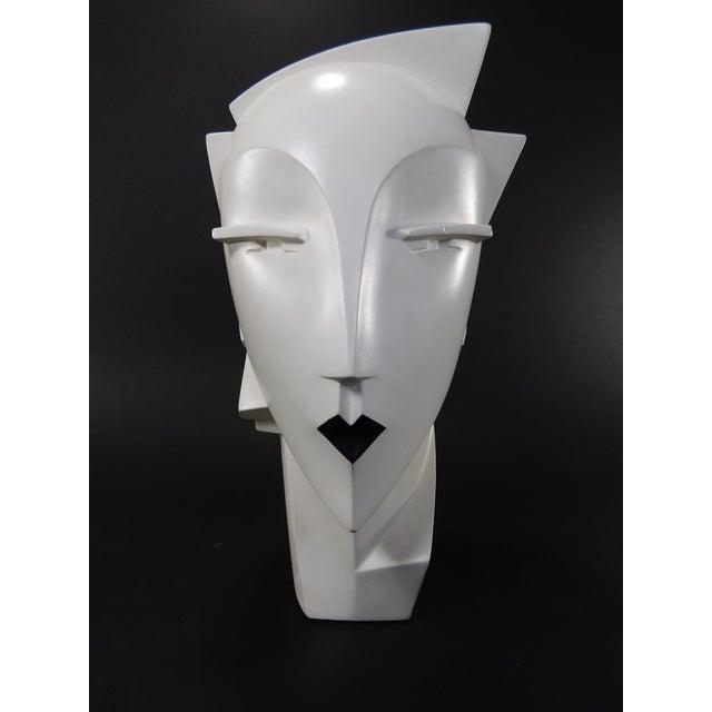 Lindsey Balkweill 1984 Vintage Sculptural Plaster Head - Image 2 of 11