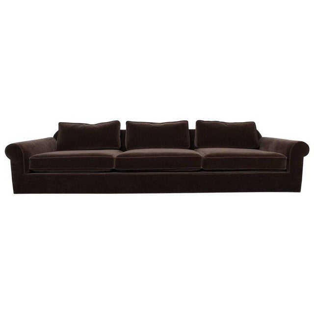 """Big Texan"" Sofa by Edward Wormley for Dunbar in Mohair - Image 10 of 10"