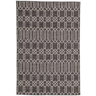Nikki Chu by Jaipur Living Calcutta Indoor/ Outdoor Geometric Area Rug - 5′3″ × 7′6″ For Sale