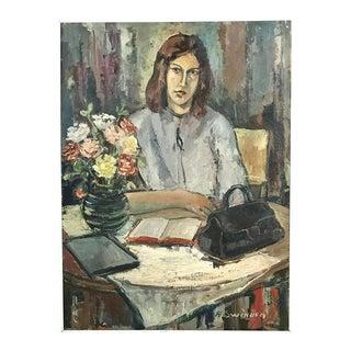 Modernist Oil Painting by A. Swinnen For Sale