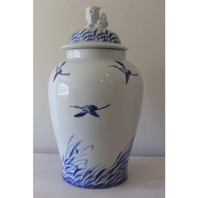 2000 - 2009 Blue & White Chinoiserie Ginger Jar For Sale - Image 5 of 5
