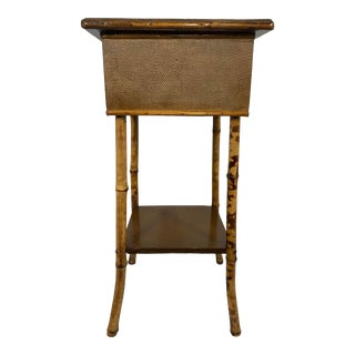 English 19th Century Bamboo Sewing Table For Sale