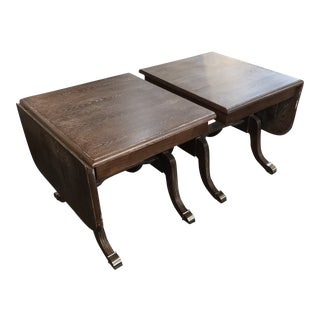 20th Century Distressed End Tables - a Pair For Sale