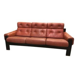1970s Vintage Ekornes Norwegian Mid-Century Modern Sofa