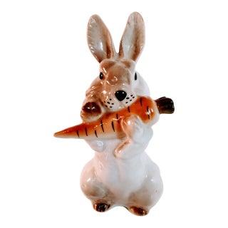 Vintage Russian Lomonosov Rabbit Porcelain Figurine For Sale