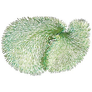 Fabio Ltd. Green and Gold Iron Coral Wall Sculpture For Sale