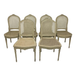 Set of Six Louis XVI Gustavian Style Dining Chairs For Sale