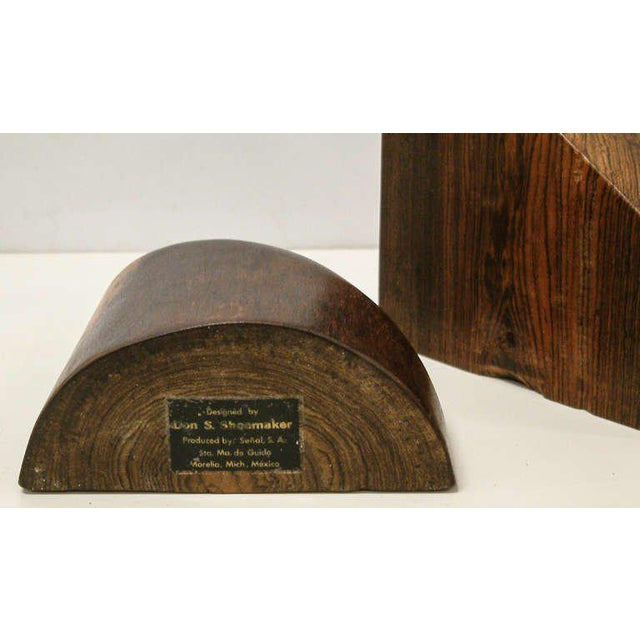 1960s Don Shoemaker Cocobolo Wood Bookends - a Pair For Sale - Image 9 of 10
