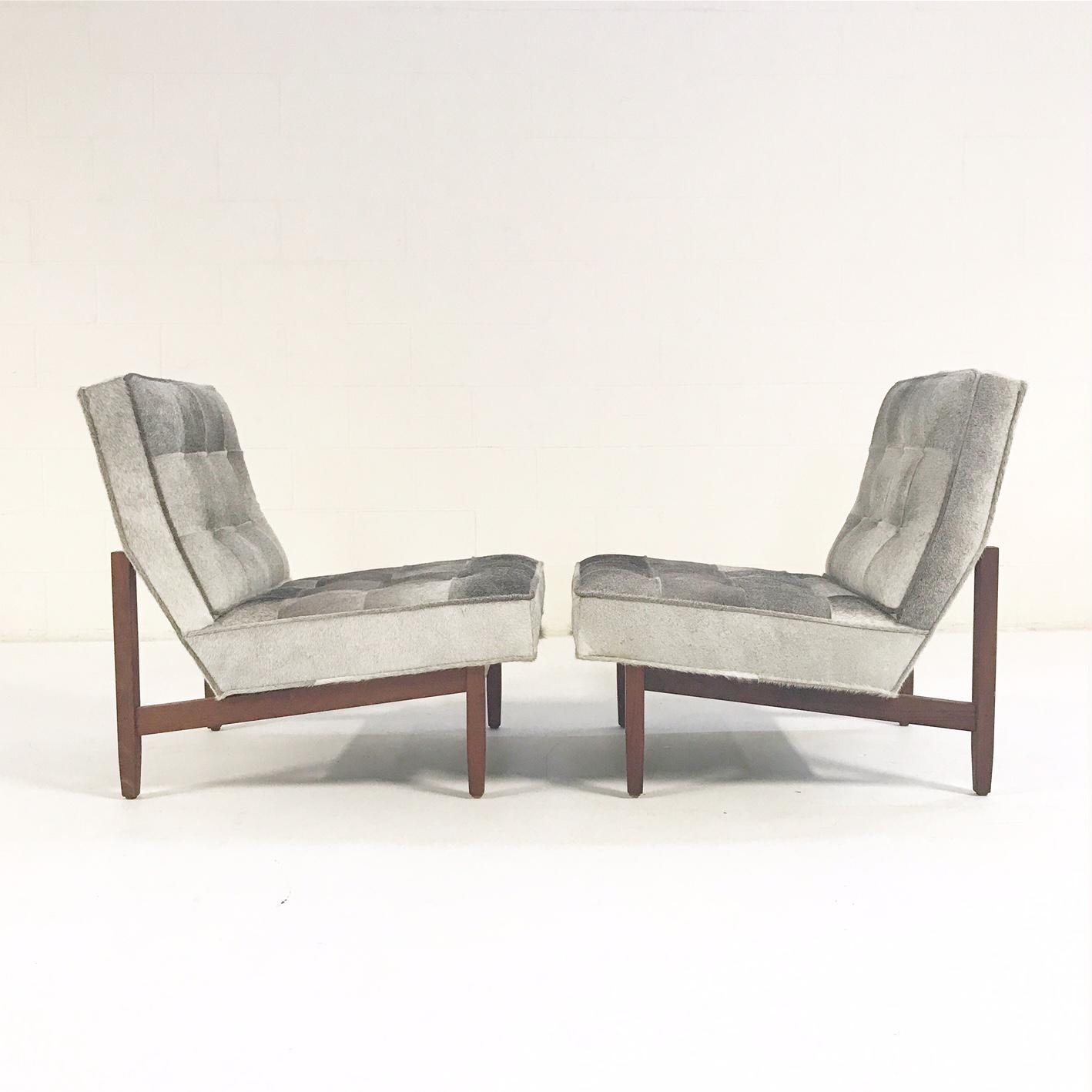 Florence Knoll Lounge Chairs Restored In Brazilian Cowhide   Pair   Image 5  Of 11