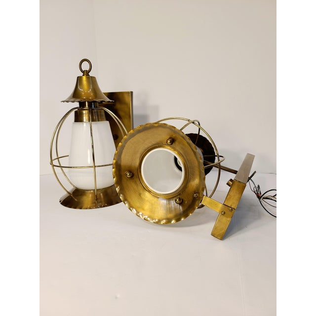 Vintage Nautical Earl Lites Wall Sconces - a Pair For Sale - Image 4 of 13