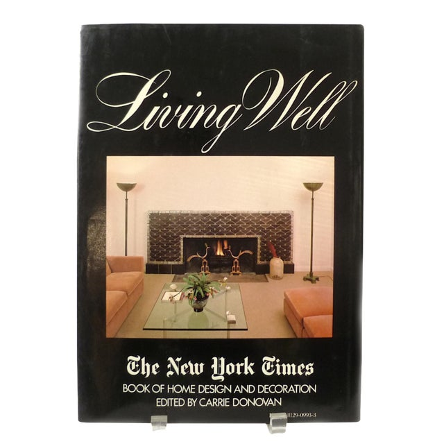 1981 Vintage New York Times Living Well Coffee Table Book - Image 1 of 5