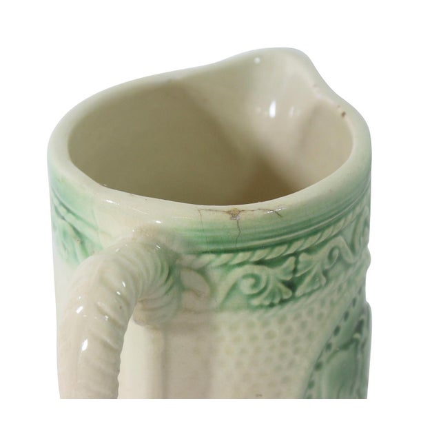 Antique Ceramic Cow Pitcher For Sale - Image 7 of 9