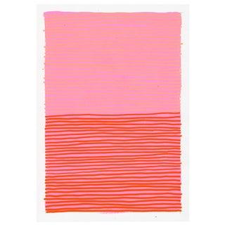 2010s Contemporary Pink & Orange Geometric Painting by Jennifer Sanchez For Sale