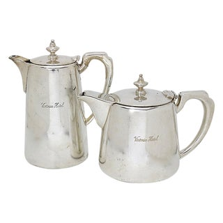 1930s Victoria Hotel Tea & Hot Water Pot For Sale