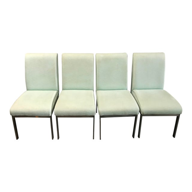 1980s Vintage Dia Upholstered Dining Chairs- Set of 6 For Sale