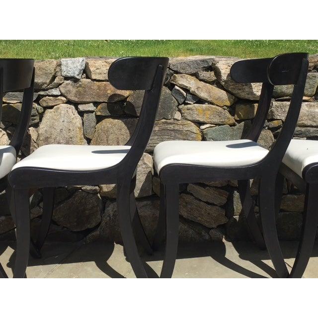 1930s Ebonized Klismo Chairs - Set of 4 - Image 5 of 10