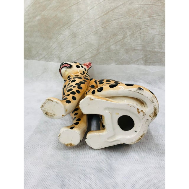 Brown 1970s Ceramic Cheetah Figurine For Sale - Image 8 of 9