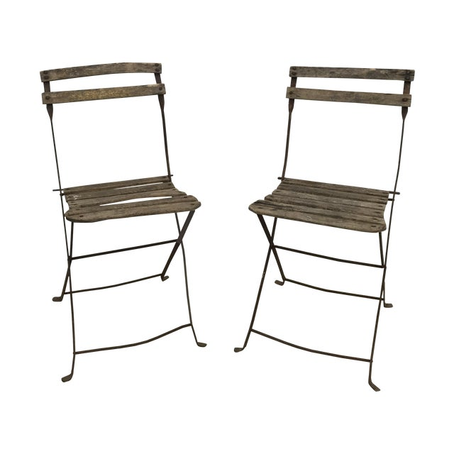 Vintage French Garden Chairs - Pair For Sale