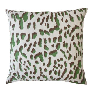Kainda Pine Green Animal Print Pillow For Sale