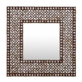 Exquisite Geometric Inlaid Square Mirror