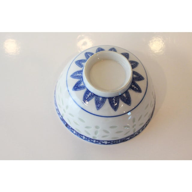 Vintage Blue Chinese Bowl For Sale - Image 4 of 6