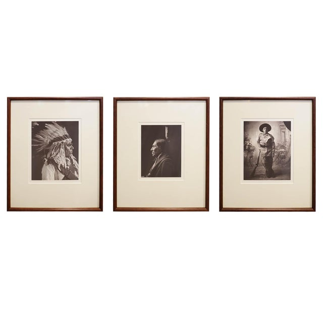 Early 20th c. Framed Native American Photographs by Frank Bennett Fiske, circa 1906 - Set of 3 For Sale In San Francisco - Image 6 of 8