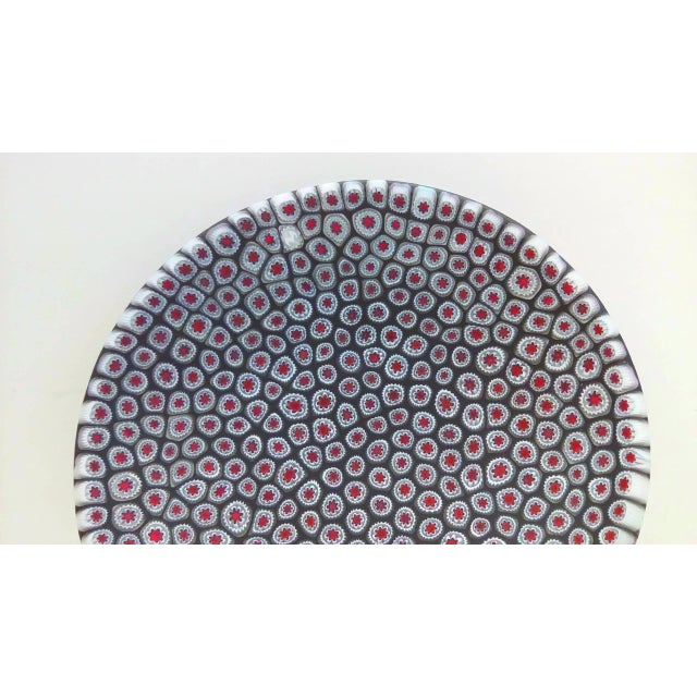 Millefiori Murrine Plate by Ercole Moretti Italy For Sale - Image 4 of 7