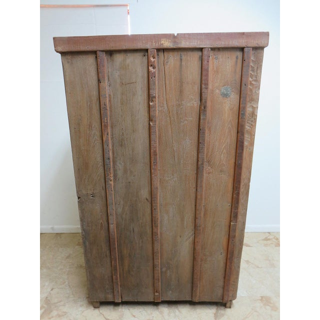 Antique Primitive Hutch China Cabinet Cupboard - Image 6 of 7