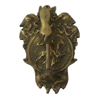 Vintage Brass Masonic Door Knocker For Sale