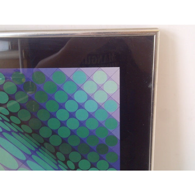 Modern Geometric Print by Victor Vasarely, 1960 For Sale In Pittsburgh - Image 6 of 8