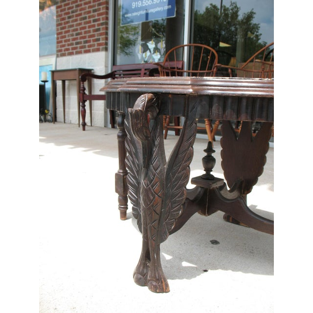 Art Deco Carved Marble Coffee Table - Image 4 of 6