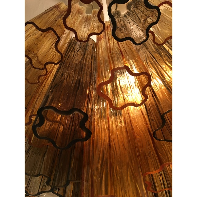 """Contemporary Murano Glass """"Tronchi"""" Chandelier For Sale - Image 9 of 12"""