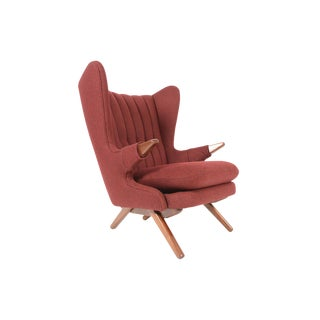 Svend Skipper Model 91 Lounge Chair in Burgundy For Sale