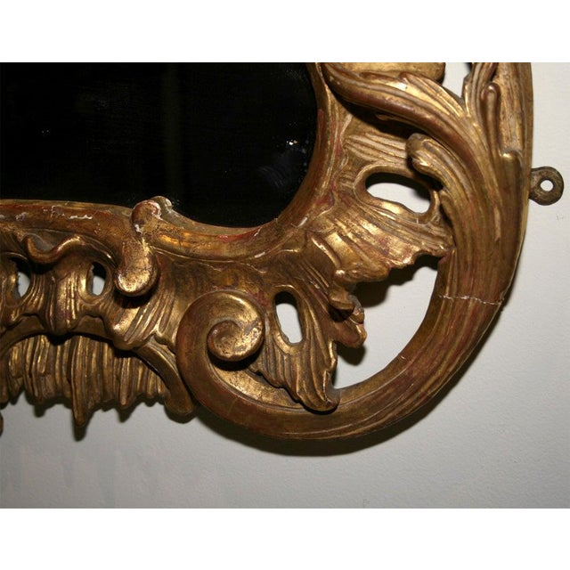 Wood George II Giltwood Mirror, Circa 1750 For Sale - Image 7 of 9