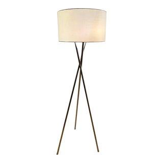 1980s Mid-Century Chrome Tripod Floor Lamp For Sale