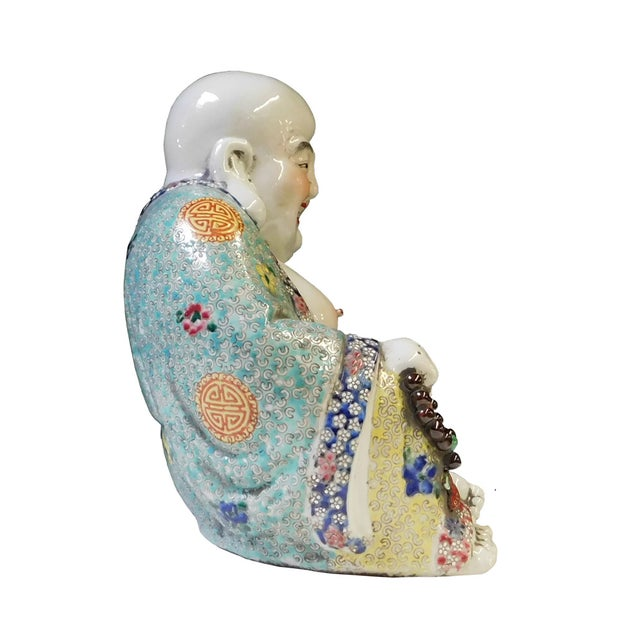 Chinese Porcelain Canton Happy Buddha Statue - Image 4 of 8