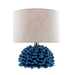 Italian Ricco Caprese Blue Capri Anemone Table Lamp