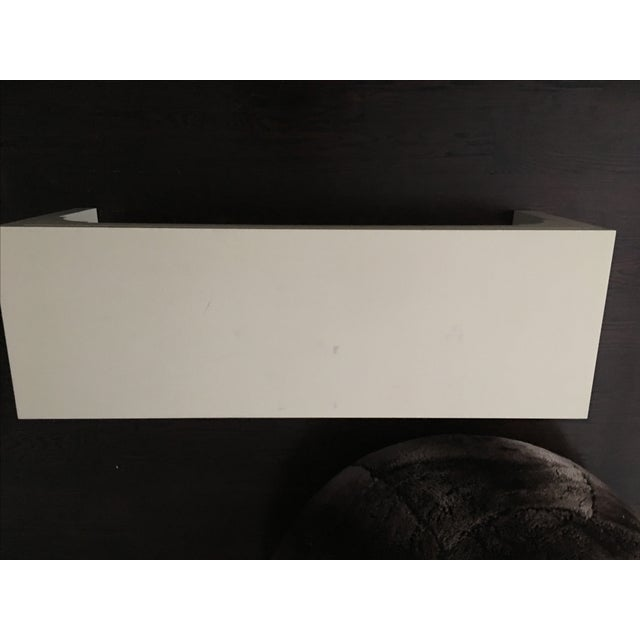 Restoration Hardware White Bench - Image 8 of 8